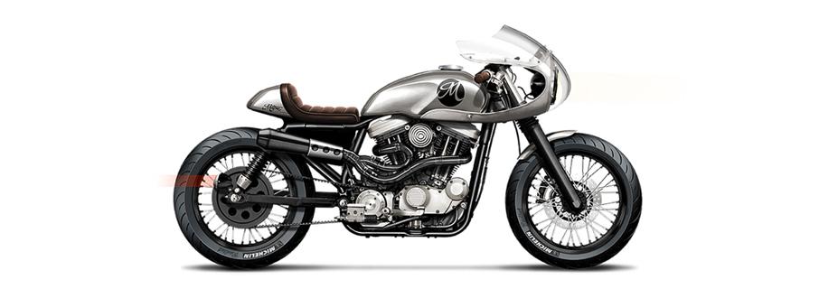 Harley Davidson Motone Cafe Racer